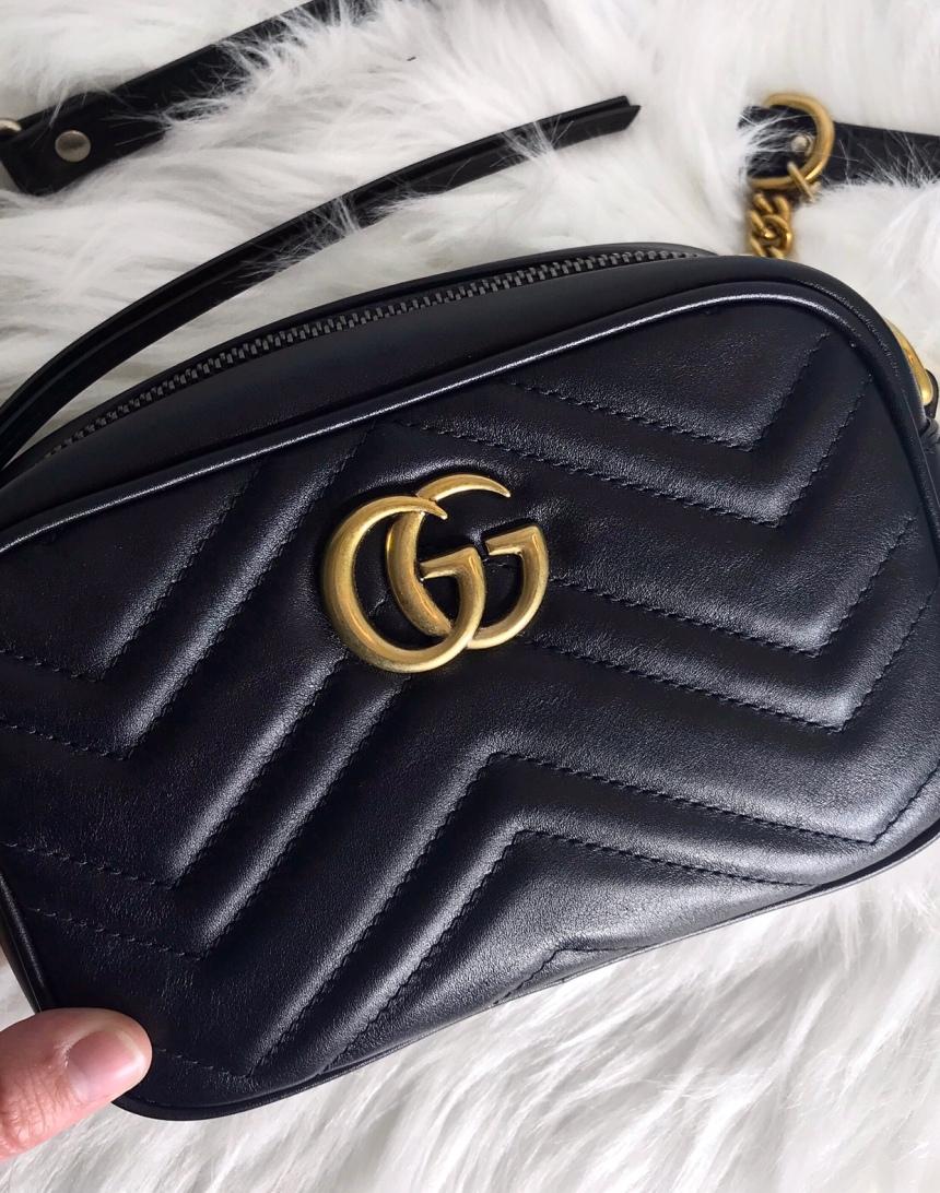 Gucci Marmont Chevron Quilted Mini Camera Bag review   CoffeeAndHandbags.com