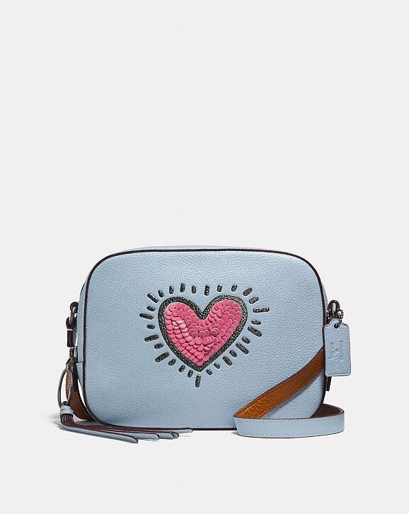 Coach X Keith Haring Heart Crossbody Camera Bag