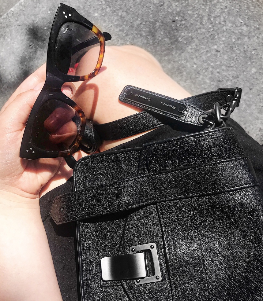 Proenza Schouler PS1 Tiny Bag and Céline Audrey sunglasses