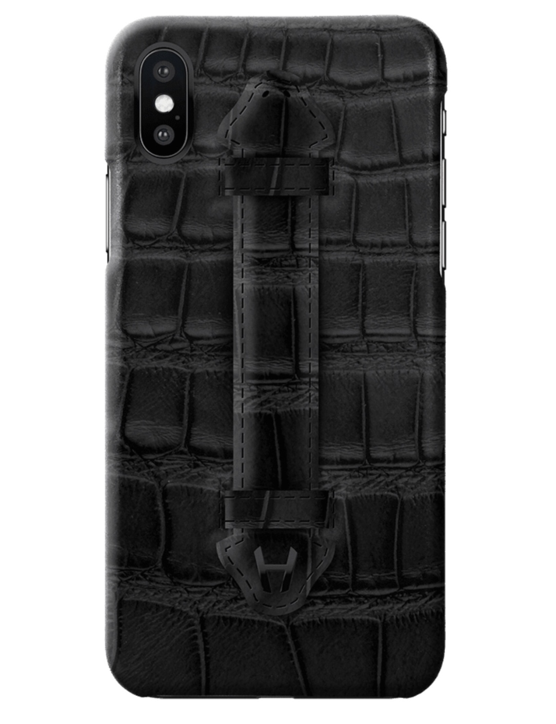 Hadoro Black Alligator Finger Case for iPhone X