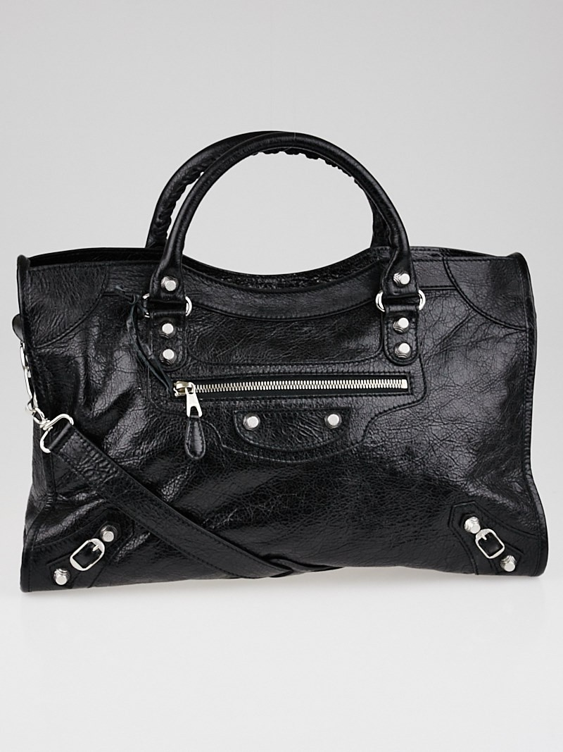 Balenciaga Black Giant 12 Motorcycle City Bag