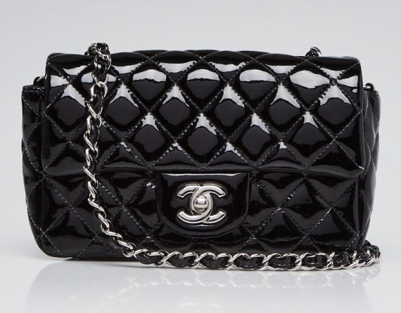 Chanel Black Quilted Patent Leather New Mini Flap Bag.jpg