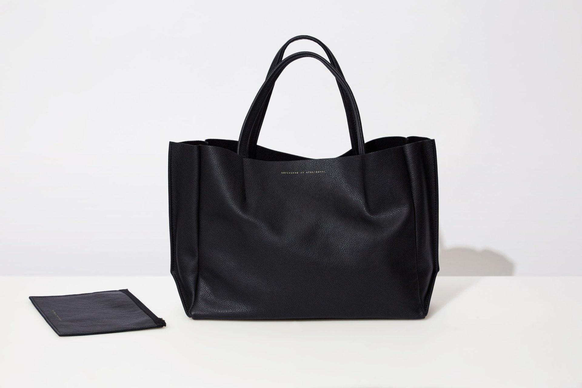 Ampersand as Apostrophe Black Sideways Tote Bag