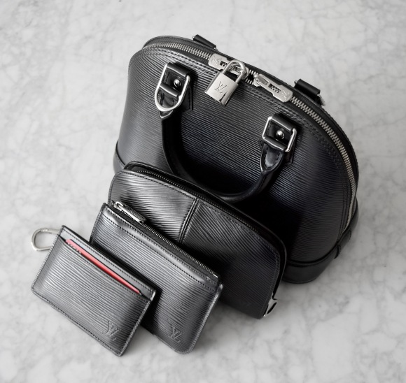 Louis Vuitton Epi Leather Alma BB and SLG Collection | CoffeeAndHandbags.com