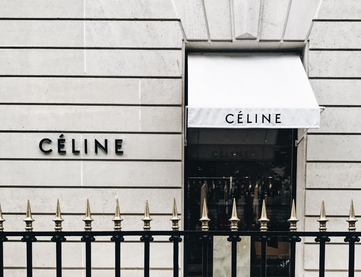 Celine storefront in Paris, France