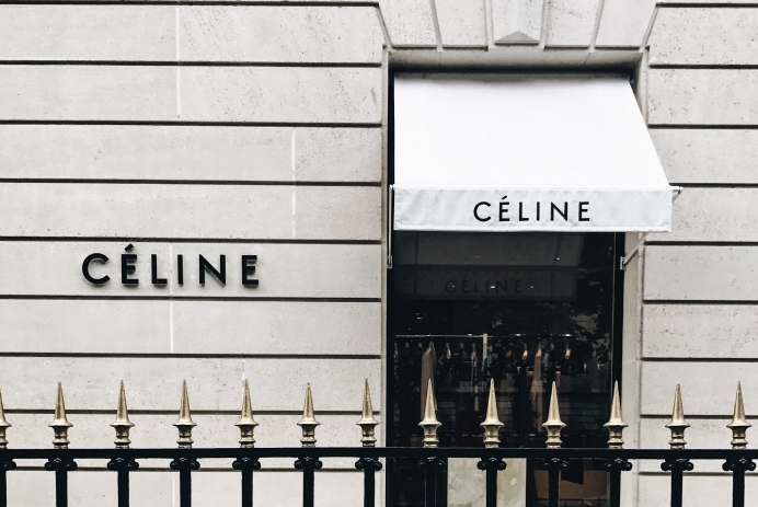Celine storefront in Paris, France