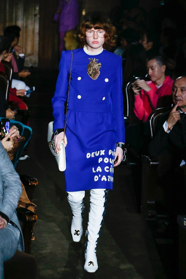 Gucci Spring 2019 Blue Heart Suit