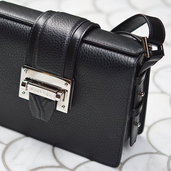 Kacy Yom Cho Rong Black Leather Crossbody Bag