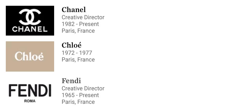 Karl Lagerfeld Career