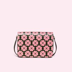 kate spade bright pink nicola floral spade medium shoulder bag, $448