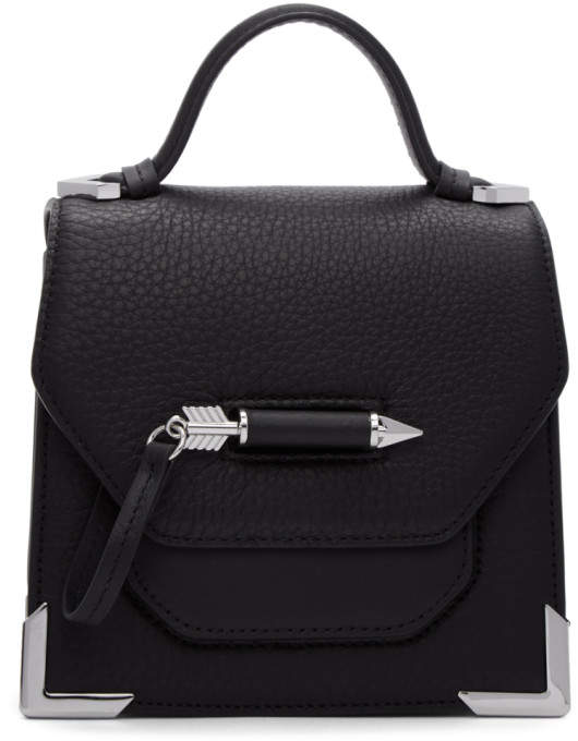 Mackage Black Mini Rubie Crossbody Bag