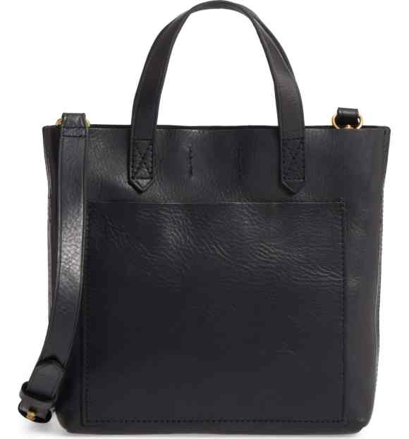 Madewell Small Transport Leather Crossbody Tote Bag