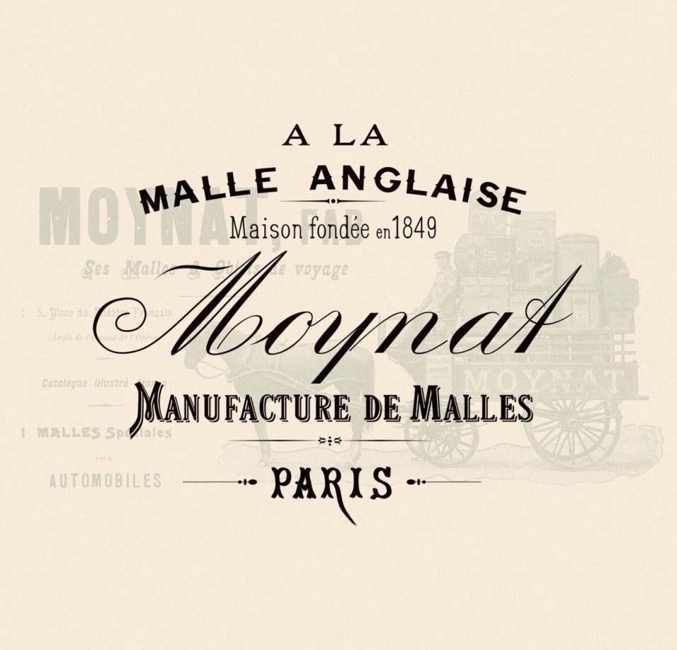 Moynat Logo and Vintage Ad | CoffeeAndHandbags.com #VintageFashion #Moynat #ParisFashion