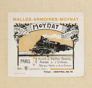 Moynat Vintage Train Ad | CoffeeAndHandbags.com #VintageFashion #Moynat #ParisFashion