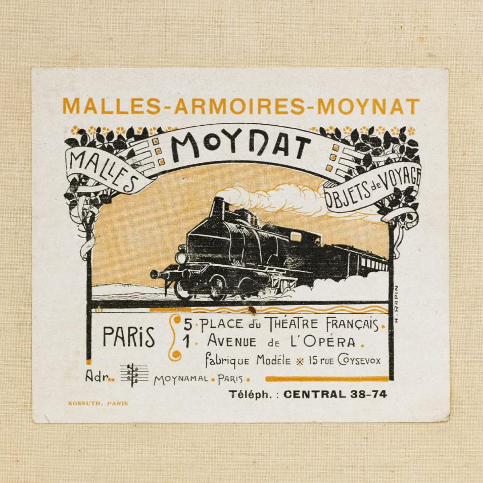 Moynat Vintage Train Ad | CoffeeAndHandbags.com #VintageFashion #Moynat #ParisFashion