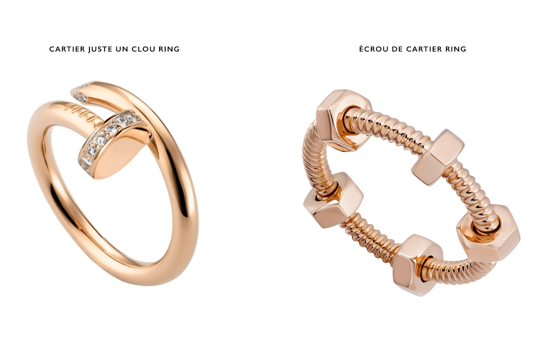 Cartier Juste Un Clou and Ecrou de Cartier Rings