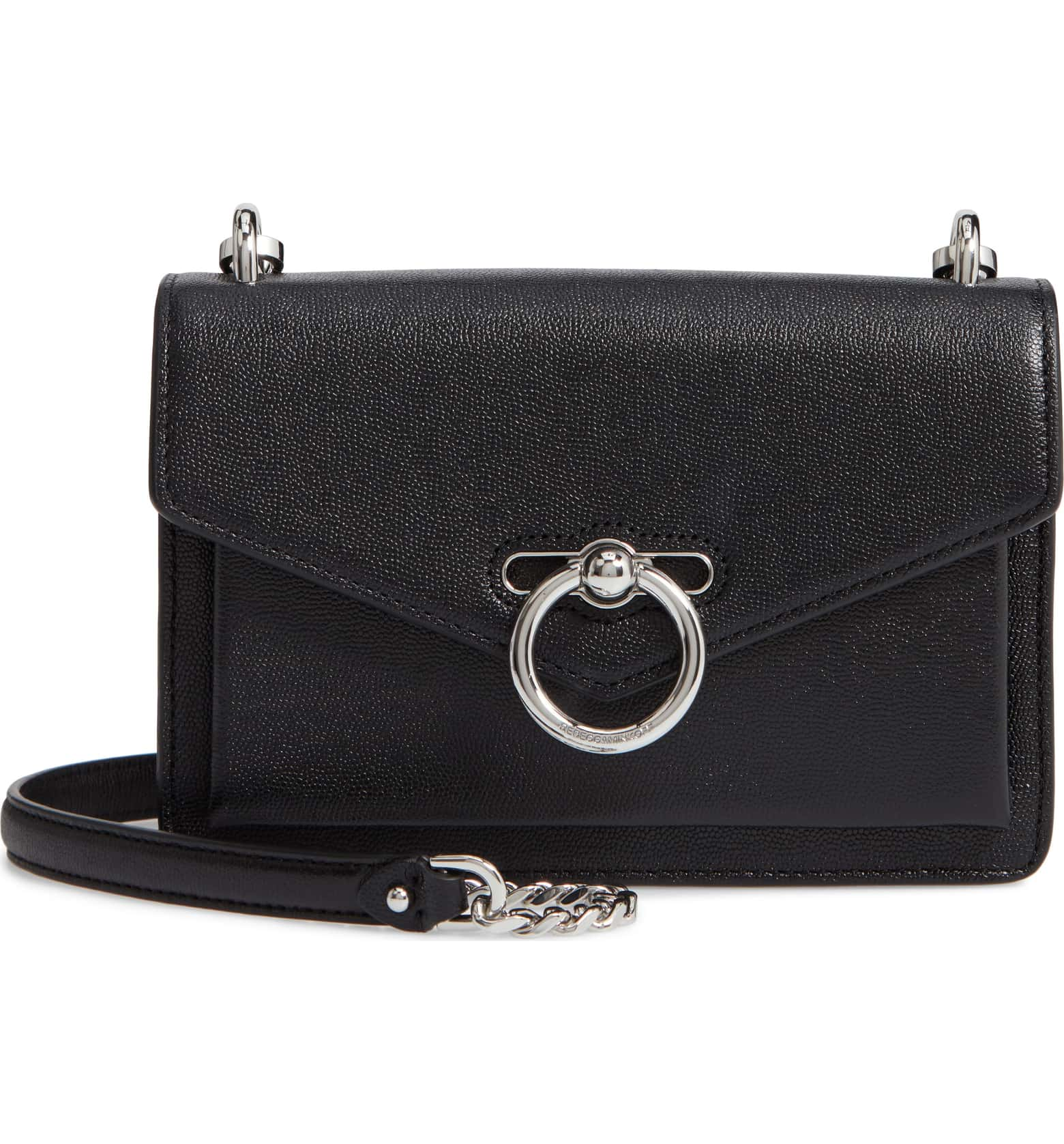 Rebecca Minkoff Black Leather Jean Crossbody Bag