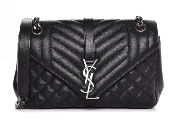 Saint Laurent Mixed Matelasse Monogram College Bag