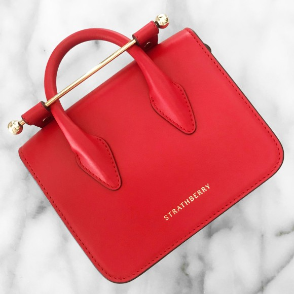 Strathberry Ruby Red MC Nano | CoffeeAndHandbags.com