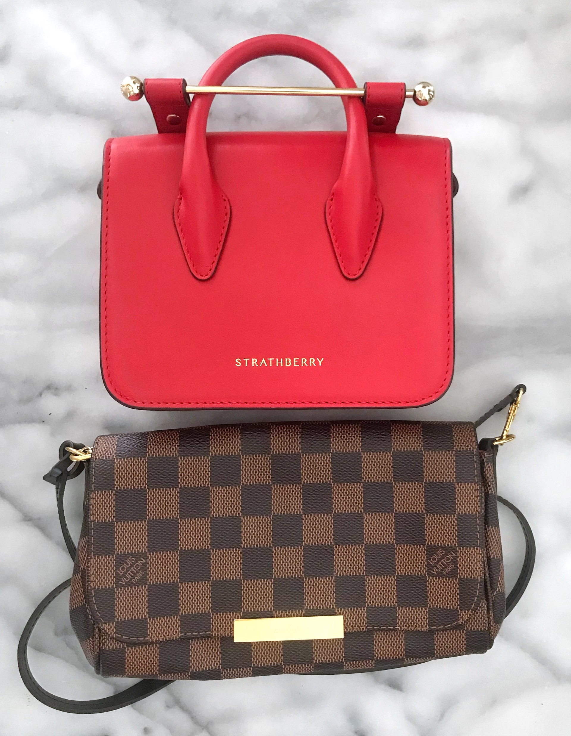 Strathberry Nano MC size comparison Favorite PM | CoffeeandHandbags.com