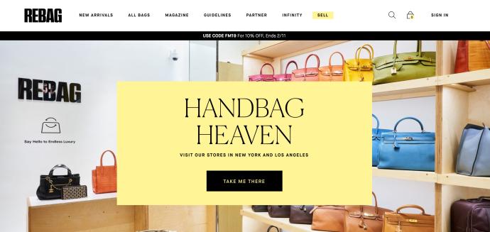 Rebag Homepage