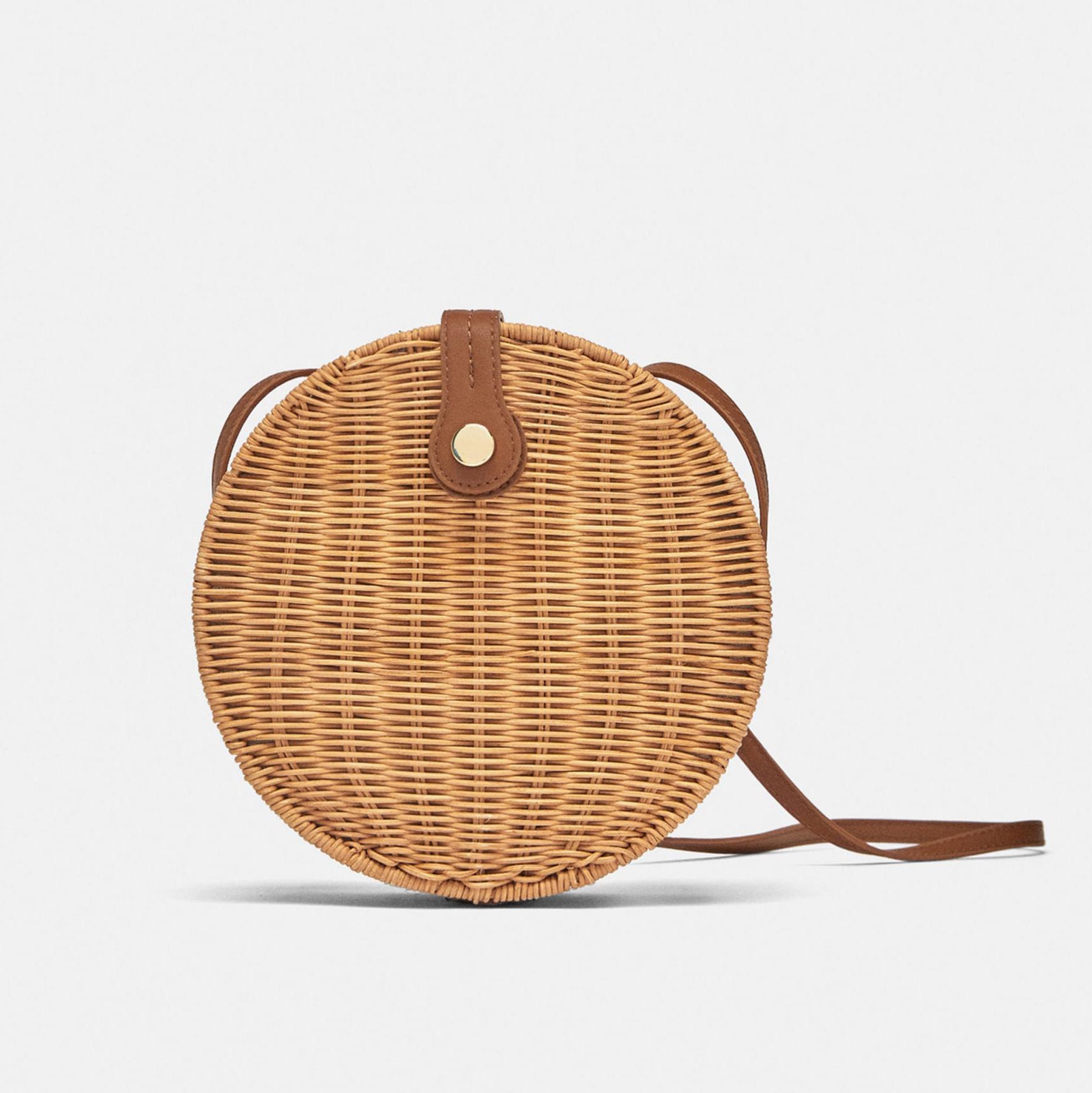 Zara Round Raffia Bag