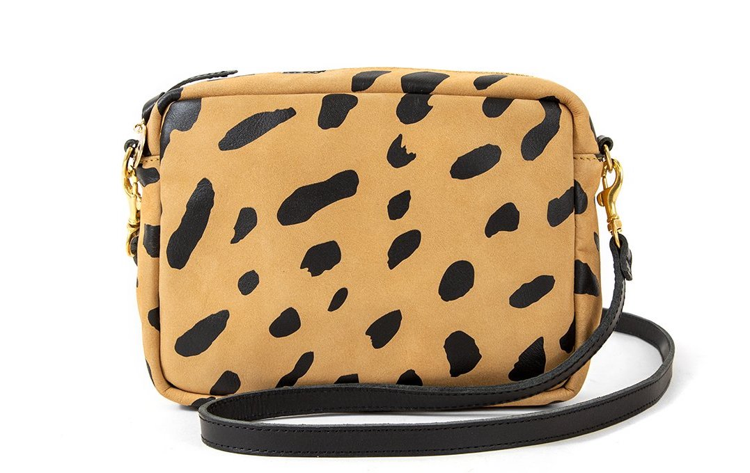 Clare V Jaguar Print Midi Sac Camera Bag Camera Bag Under $500