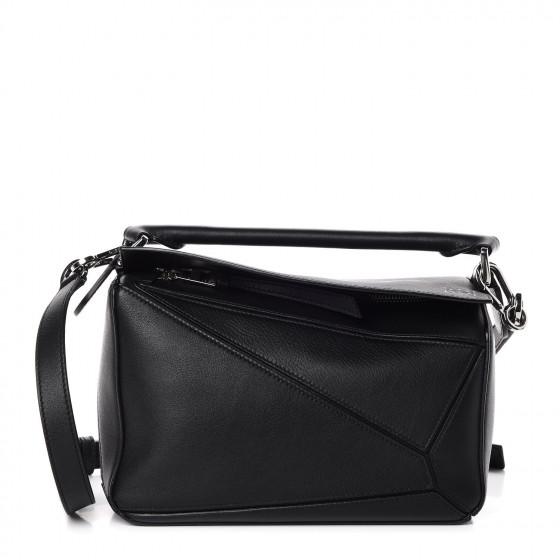 Loewe Black Small Puzzle Bag