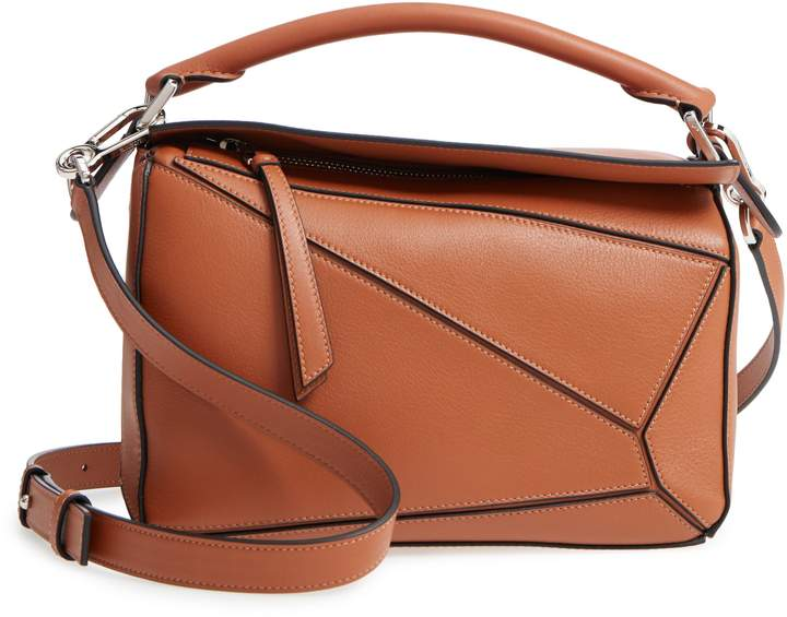 Loewe Tan Calfskin Leather Puzzle Bag