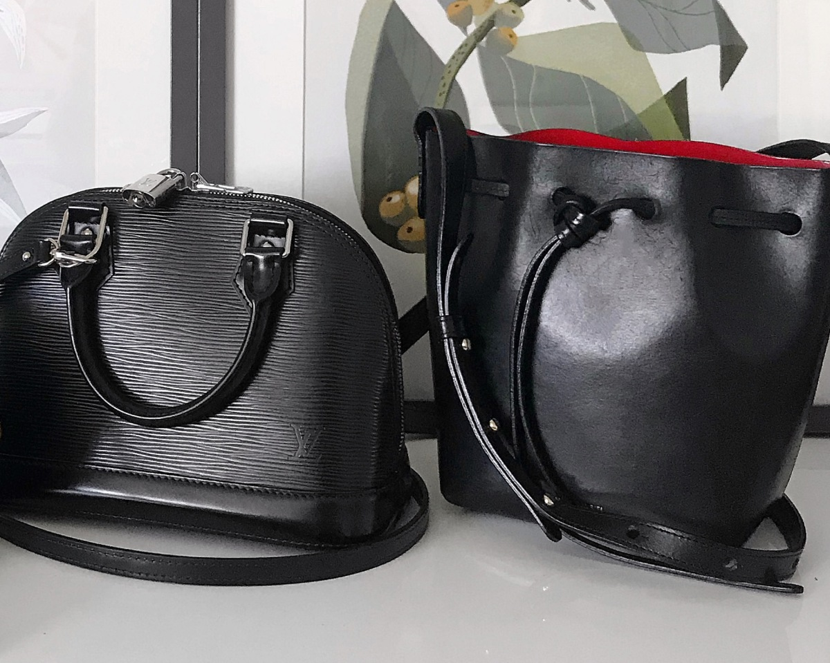 Louis Vuitton Epi Alma BB and Mansur Gavriel Bucket Bag
