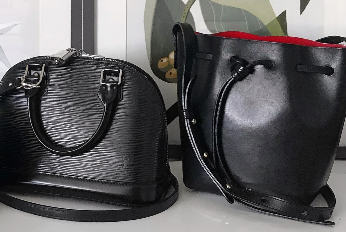 Louis Vuitton Epi Alma BB and Mansur Gavriel Bucket Bag