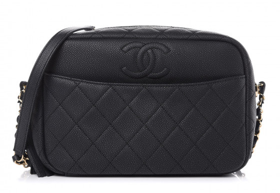 Chanel Caviar Medium Coco Tassel Camera Case Bag