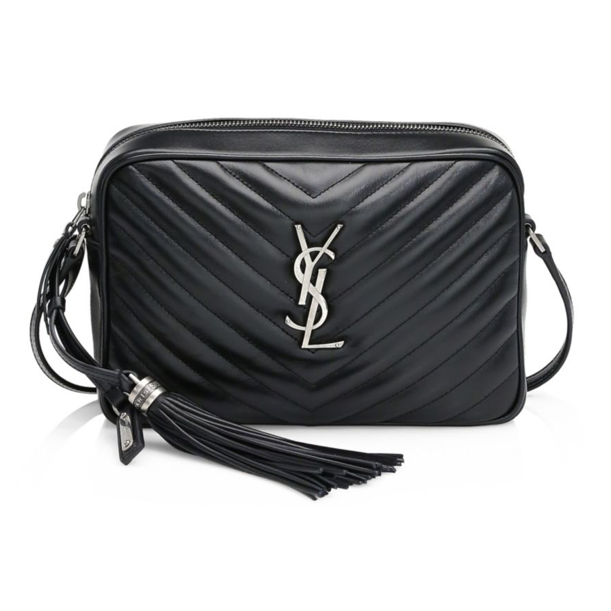 Saint Laurent Women's Lou Matelassé Quilted Leather Camera Bag
